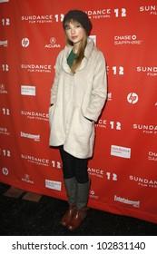 "PARK CITY - JAN 20: Taylor Swift arrives at the premiere of ""Ethel"" at the Sundance Film Festival in Park City, Utah on January 20, 2012."