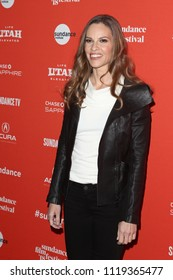 "PARK CITY, UT -  Actress Hilary Swank attends the premiere of ""What They Had"" at the Eccles Theater on January 21, 2018 during the Sundance Film Festival in Park City, Utah."