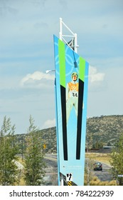 PARK CITY, UT - AUG 30: Olympic Park in Park City, Utah, as seen on Aug 30, 2017. It is a winter sports park built for the 2002 Winter Olympics.