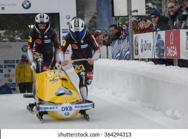 PARK CITY, UT - JAN 15: Team Germany at the BMW IBSF Women Bobsleigh World Cup in Park City, UT on January 15, 2016