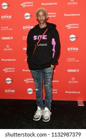 "PARK CITY, UT - JAN 21: Actor Jaden Smith attends the premiere of ""Skate Kitchen"" during the 2018 Sundance Film Festival at Eccles Theater on January 21, 2018 in Park City, Utah."