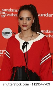PARK CITY, UT - JAN 22: Actress Sasha Lane attends 'The Miseducation of Cameron Post' premiere at the 2018 Sundance Film Festival at Eccles Theater on January 22, 2018 in Park City, Utah.