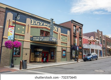 Park City, Utah: July 31, 2017: Mary G. Steiner Egyptian Theatre at Park City, Utah.  The theater is used for the annual Sundance Film Festival.