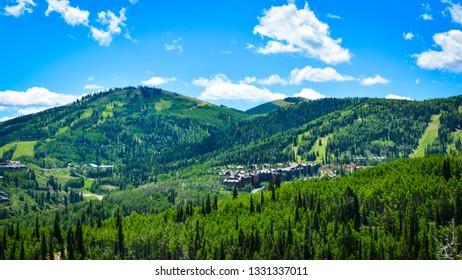 Park City Utah Mountain Hike in Spring