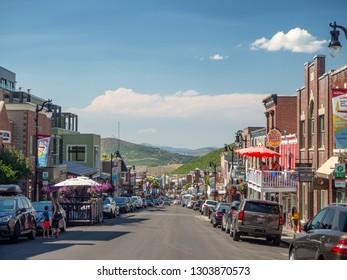 Park City, Utah, United States, America, Summer 2018 : [center Olympic village near Salt lake city]