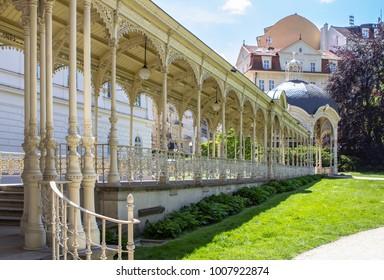 Park colonnade in Karlovy Vary, Czech Republic