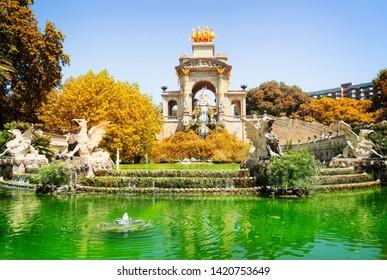 Park de la Ciutadella of Barcelona, Spain at fall