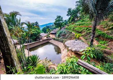 Park at Doi Pui Mong hill tribe village, Chiang Mai province..