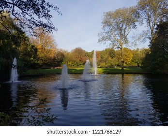 park fountain in Amsterdam