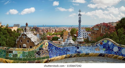 Park Guell, view over Barcelona
