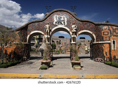 Park in Huancayo; Peru
