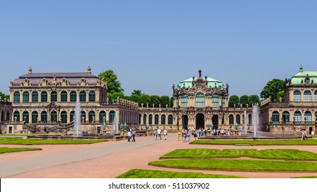 Park inside the Zwinger palace, Dresden, Germany
