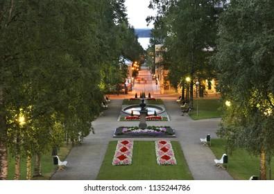 Park in Kuopio. Northern Savonia. Finland