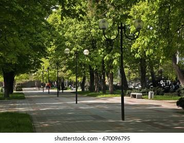 Park magistral in Novorossiysk. Krasnodar region. Russia