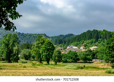 The park of Negosh of the city of Cetinje, Montenegro