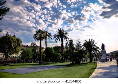Park in Nice. France. Cote d'Azur