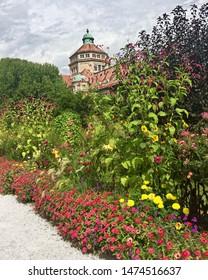 Park Nymphenburg in Munich, Bavaria, Germany. July 2019