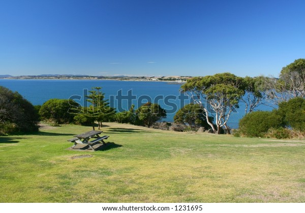 Park with ocean view, Devonport, Tasmania.