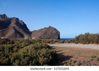 Park on the beach of La Aldea, Gran Canaria