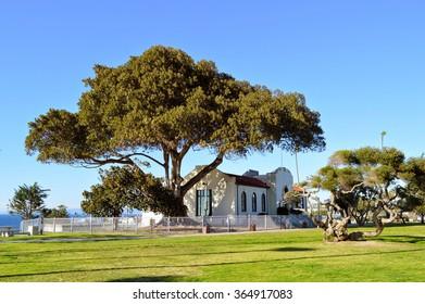 Park on the coast of South Bay in Redondo Beach City, California.