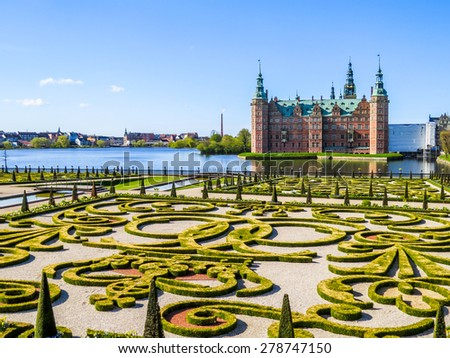 Park Palace Frederiksborg Slot Hillerod Denmark Stockfoto Jetzt