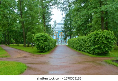 park paths after the rain, St. Petersburg