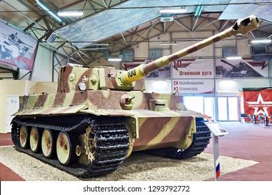 PARK PATRIOT, KUBINKA, MOSCOW REGION, RUSSIA - July 11, 2017 : Heavy tank of Wehrmacht PzKpfw Tiger I