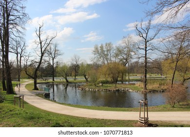 park in prague czech republic sunny day in spring