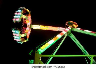 Park Ride High Spinning Night scene