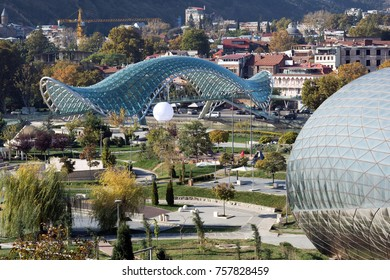 park rike and part of the old city, tbilisi, georgia