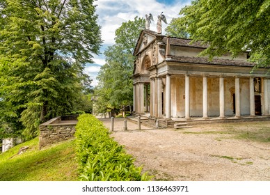The Park of Sacred Mount of Orta with Chapels, Orta San Giulio, Novara, Piedmont, Italy