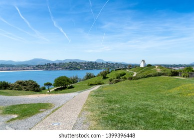Park of Sainte Barbe and the Bay of Saint Jean de Luz. Donibane, Basque Country of France.