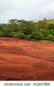 Park of Seven Colors in Chamarel. Mauritius