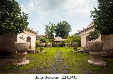 Park side of Taman Sari, a heritage part of Jogja Royal Palace, Kraton Jogja, that used as a bathroom for the king and royal family, located in Jogjakarta, Indonesia.