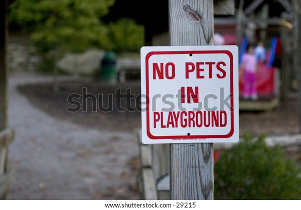 Park Sign no pets allowed