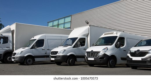 park specialized delivery small trucks and van