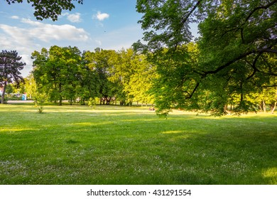 Park in Spring, Prague, Czech Republic