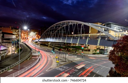 Park Square Bridge, also known as the Supertram Bridge, is a prominent bridge in the City of Sheffield, England.