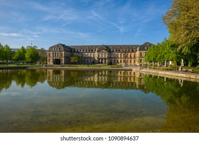 Park of Stuttgart City close to the theatre and opera builing - Germany