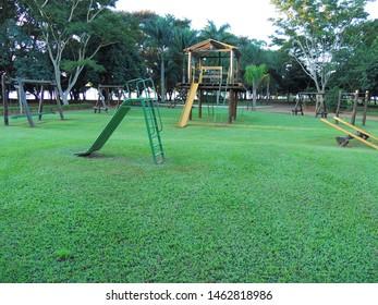 Park view for children in the municipality Santo Inácio, Paraná, Brazil, 2013.