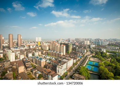 park view of fuzhou city in Jiangxi Province,