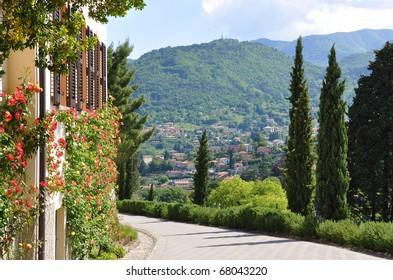 Park of Villa Serbelloni in Bellagio at the famous Italian lake Como