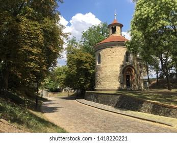 Park in Vysehrad district of Prague, Czech Republic