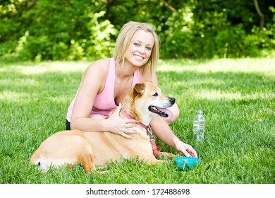Park: Woman and Her Best Friend