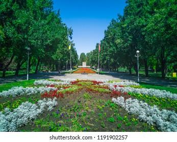Park in  Zaporozhye, Ukraine, 23 August 2018.