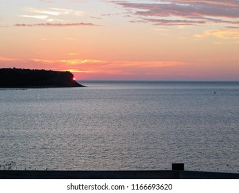 Parked along the coast of Cheticamp, Nova Scotia, Canda enjoyed the sunset go down behind the point