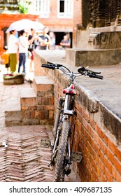 A parked Bicycle in Nepal