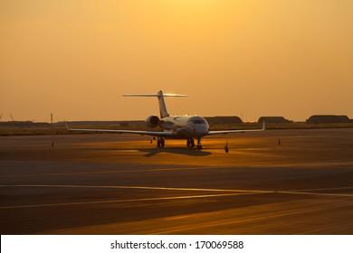parked Business Jet