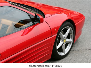 Parked sports car