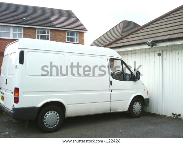 Parked white van